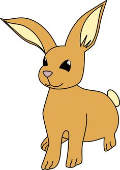 Bunny by @apple, Simple draw of a bunny, on @openclipart