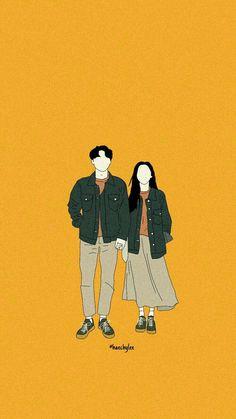 Cute Couple Drawings, Cute Couple Art, Wallpapers Tumblr, Cute Cartoon Wallpapers, Couple Illustration, Illustration Art, Cartoon Drawings, Cartoon Art, Cover Wattpad