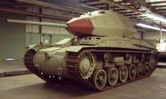 The Swedish Stridsvagn 74 main battle tank.