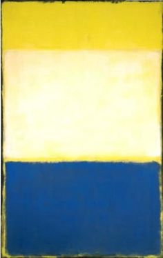 No. 6 (Yellow, White, Blue Over Yellow on Gray) - Mark Rothko Mark Rothko, Rothko Art, Abstract Painters, Abstract Art, Colour Field, Edward Hopper, Art Moderne, Abstract Expressionism, Oeuvre D'art