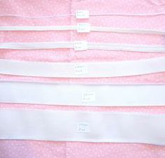 White Elastic by the Metre