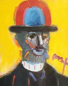 "Original Painting ""Toulouse Lautrec"" by Peter Max"