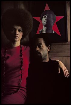 by Gordon Parks / Eldridge Cleaver and his Wife Kathleen, Algeria 1970