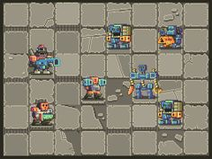 "Noppy en Twitter: ""I'm finally starting to have fun again working on these Mutant Gangland tiles. #ScreenshotSaturday #GameDev #PixelArt http://t.co/dVscFc9tcK"""