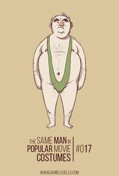 The SAME MAN in POPULAR MOVIE COSTUMES - Lo stesso tipo per ogni film - Il Post