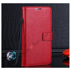 Luxury Leather Hot Selling Wallet Case for Samsung Galaxy Note 3 III with Card Holders - Red US$11.69