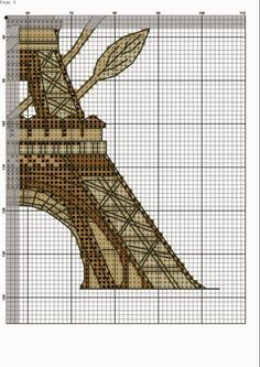 stitch cross Paris tour eiffel (5)