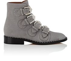 Givenchy Elegant Studded Suede Ankle Boots | Barneys New York