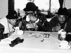 Run DMC American Pop Group Rap Drinking Tea, 1986 Photographic Print - AllPosters.co.uk