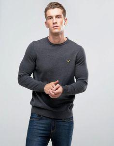 Lyle & Scott Merino Mix Sweater Charcoal - Gray