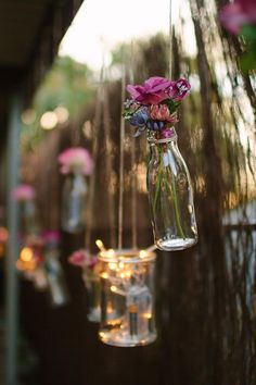 LOVE FLOWERS AND BOTTLES …