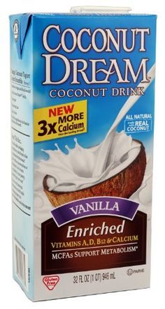 COCONUT DREAM Enriched Vanilla Coconut Drink, 32 Fluid Ounce (Pack of 12) * You can get additional details at the image link.