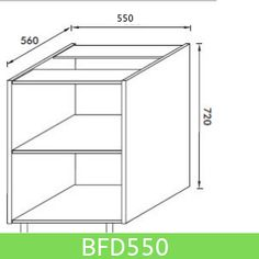 Base Unit 550 mm (Full Height Door)