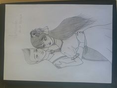 Cute drawing, girl and boy dancing ~ desenho fofo, menina e menino dançando