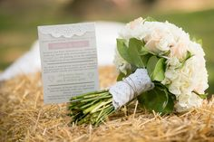 Backyard Wedding Bouquet and Program