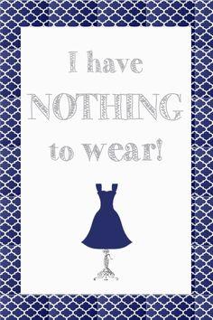 Imprimible gratis para armarios y vestidores - Free printable for walk-in closets and wardrobes