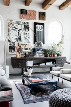 The Chanel painting makes the room.