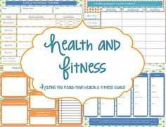Health and Fitness Printable Planner - Instant Download. $8.00, via Etsy.