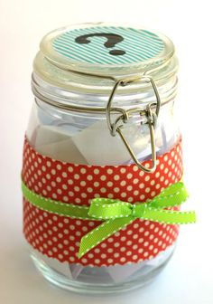 keep a conversation jar on the table to make dinner fun