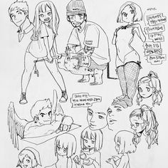 Keep A Sketchbook And Have Fun - Drawing On Demand Figure Drawing Reference, Drawing Reference Poses, Pencil Art Drawings, Drawing Sketches, Character Sketches, Character Art, Manga Drawing Tutorials, Poses References, Doodle Sketch