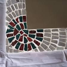 Imagini pentru espejo decorado con mosaico