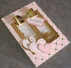 Handmade Valentine's Day Shaker Card Gift Shaped Window