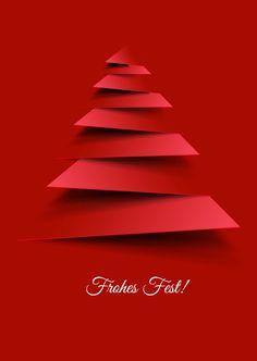 Postmoderner Christbaum | Frohe Weihnachten | Echte Postkarten online versenden…