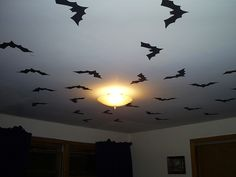i spent a few hours on a saturday covering the ceiling of my bedroom with black halloween bedroomhalloween diyhalloween decorationsspooky - Halloween Room Decorations