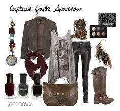 """Captain Jack Sparrow"" by jaesama ❤ liked on Polyvore featuring Balmain, Religion Clothing, Wood Wood, Steve Madden, Deborah Lippmann, Alexander McQueen, LORAC, Miss Selfridge, pirates of the caribbean and boots"