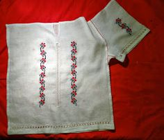 handmadeina: Imi cos singura o ie - Tutorial, cum inchei o ie Learn Embroidery, Beaded Embroidery, Needlework, White Shorts, Costumes, Sewing, Handmade, Clothes, Patterns