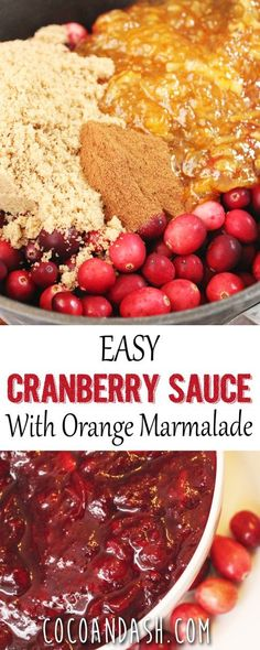 Thanksgiving ~ Cranberry Sauce with Orange Marmalade