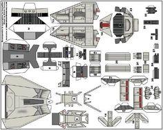 Star Wars - Miniature Snowspeeder Paper Model - by Momir Farooq