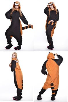 Best Raccoon Animal Onesies Unisex Pyjamas Halloween Cosplay Costume 19ee2ee26