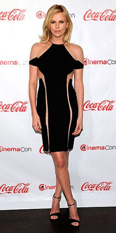 CHARLIZE THERON in Dion Lee Fall 2012 | Charlize Theron