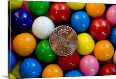 A penny backed by brightly colored gumballs as in penny candy Wall Art, Canvas Prints, Framed Prints, Wall Peels Penny Back, Nostalgic Candy, Penny Candy, Retro Candy, Favorite Candy, I Remember When, Gumball, The Good Old Days, Bright Colors