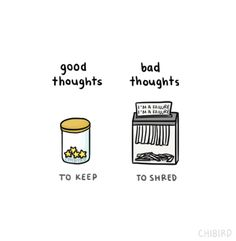 Shred negative thoughts!! About yourself and others.