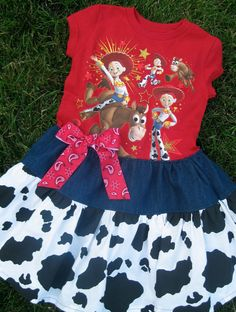 Toy Story Dress Jessie Cowgirl Disney by MadiBethCreations on Etsy, $34.50