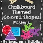 This set includes 22 posters that coordinate perfectly with my Chalkboard Themed Classroom Set.  Posters included are:  SHAPES: circle, square, rec...