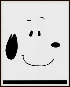 Peanuts Snoopy Minimalist Icon Pop Art by MinimalistPopTart, $13.00