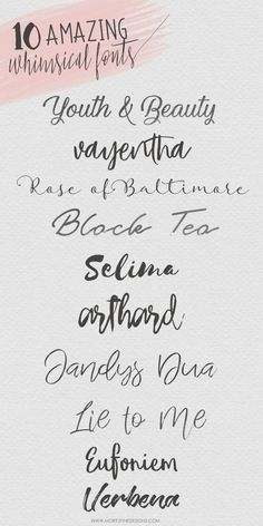 10 Whimsical Fonts   Free Hand-Written Script Fonts
