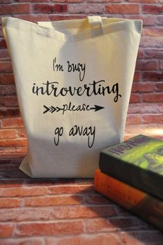 I'm busy introverting please go away Cotton Tote Bag by BLNDesigns