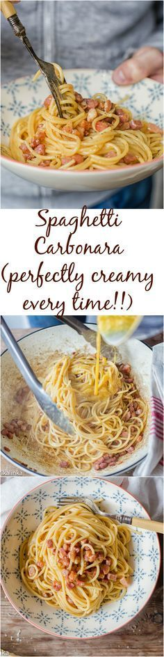 A picture guide to how to make a perfectly creamy Pancetta and Cheese Carbonara every time!