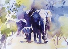 watercolor by Hazel Soan