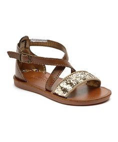 Gold Pearly Sandal by OshKosh B'gosh #zulily #zulilyfinds