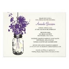 Bridal Shower Wildflowers & Mason Jar Invitations
