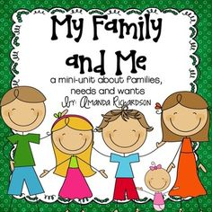 This mini-unit was created to help teach you little ones about families, their needs and wants, and the customs and traditions celebrated within fa. Preschool Family Theme, Body Preschool, Preschool Class, Preschool Lessons, Kindergarten Activities, My Family, Family Rules, Preschool Social Studies, Name Activities