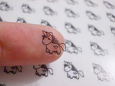 Unicorn Planner Stickers - Horse Stickers - ECLP Stickers - Happy Planner Stickers - Erin Condren Planner Stickers - Clear Stickers (st147#) by CENTERPATCH on Etsy
