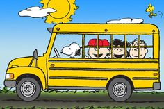 Snoopy Driving The School Bus with Charlie Brown by MagnetsbyAbby