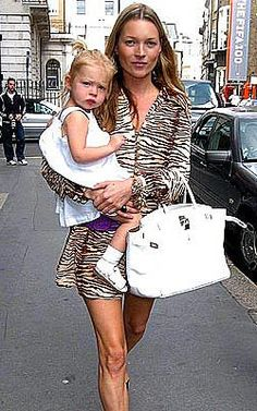 Kate Moss, Lila Grace and Birkin bag