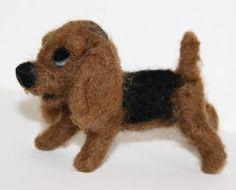 sweet tiny Dog  needle felted miniature small animal by nutkaart